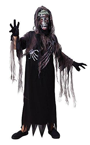 Kapuzen-Terror Reaper - Halloween-Kostüm - Kinder Kostüm - Klein - 110 bis 122 cm (Kinder Kostüm Ideen Für Halloween)
