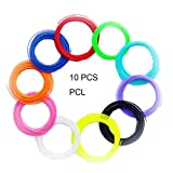 SUNLU 3D-Stiftfilament 1.75mm PCL-3D-Stiftnachfüllungen (10 Farben, jeweils 16,4 Fuß), 3D-Druckerfilament für 3D-Druckstift