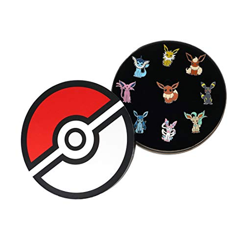 cosplaystudio Pokemon Evoli Pin Set, 9 STK, Alle Evolitionen (Pokemon Evoli Kostüm)