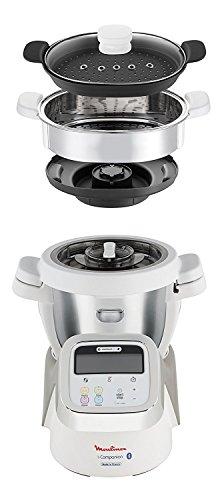 Moulinex i-companion-Robot de cuisine connecté HF902110 capacité 6personnes 5accessoires + cuiseur vapeur