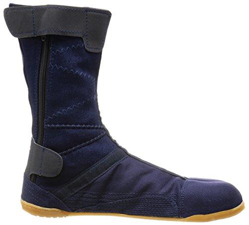 MARUGO Pro-Guard Fastener Japanische Tabi Sicherheits-Schuhe Navy mit Plastikschutz (Reißverschluss) Navy