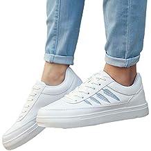 JiaMeng Zapatos Casuales con Punta Redonda y Punta Redonda Deportiva con Cordones y Zapatos de Pizarra