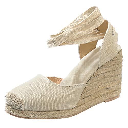 Sandalias con Cuña para Mujer, Sandalias con Plataforma Mujer, Zapatos de Tacón con Punta Abierta...