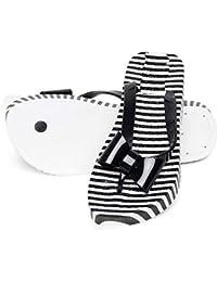 Warlock Black Striped Slippers For Women|Womens Footwear|Womens Slippers| Light Weight |Girls