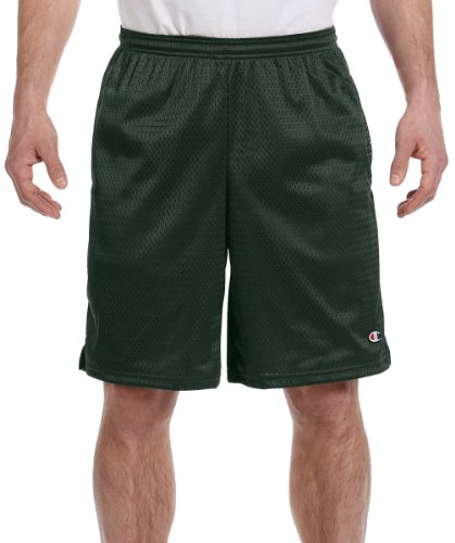 Champion Mens Lightweight Breathable Tricot Lining Long Mesh Shorts With Pockets Navy