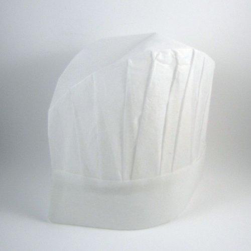 24 Stück Papier Kochmütze weiß H:29cm
