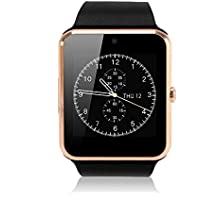 Fitness Tracker, Pandaoo Wearable Bluetooth Smart Watch GT08 Smart Health Pedometer Sleep Monitor Call/SMS/SNS Alert Wrist Watch Phone Uwatch with SIM Card Camera Slot for Android Samsung HTC LG SONY Huawei [Full Functions] IOS iPhone 4S/5/5C/6/7/8/8plus iPhone X [Partial functions]
