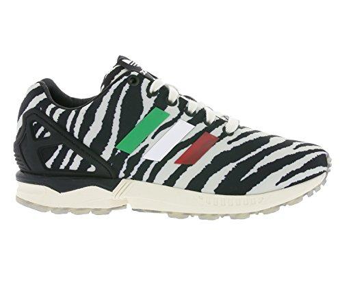 adidas ZX Flux, Unisex-Erwachsene Sneakers Weiß (Schwarz/Weiß)