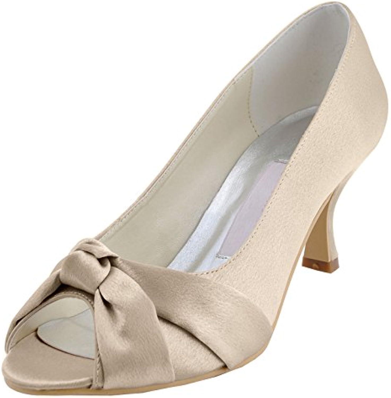 MINITOO , Chaussures de Mariage Tendance - Femme - Tendance Marron - Champagne-6.5cm Heel,B074S568Z3Parent 84ec41