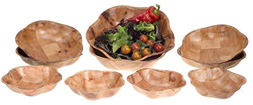 Brokson 10-piece bamboo star insalatiera/dip ciotola/ciotola per snack