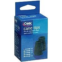 "Cane Tips 5/8"" Black Carex"