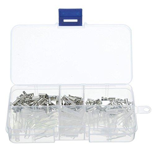 ARCELI 2,8 mm, 4,8 mm, 6,3 mm Crimp-Terminals, weibliche Flachstecker Isolierhülsen-Kit -
