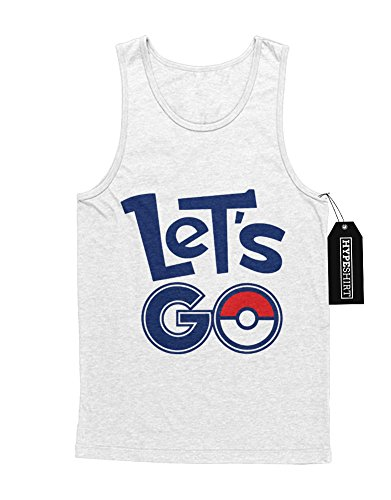 Tank-Top Pokemon Let's Go Pokeball Catch 'Em All Hype Kanto X Y Nintendo Blue Red Yellow Plus Hype Nerd Game C980104 Weiß
