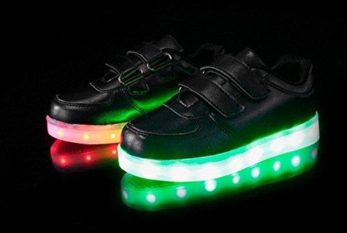 [+Piccolo asciugamano]Luci LED colorati bagliore e ricarica scarpe dargento nuovo scarpe casual USB maschio luminoso e di coppia scarpe femmin c17
