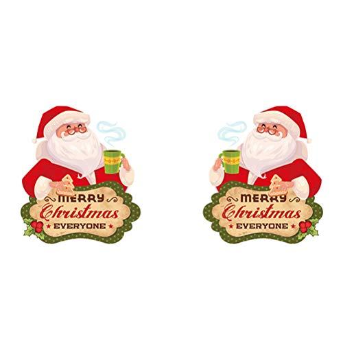 Vosarea Weihnachtsmann Fensteraufkleber Weihnachten Wandtattoo Fensterbilder Fensterdeko Schaufenster ()