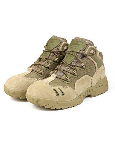 FREE SOLDIER Outdoor Wandern Schuhe für Männer Wandern und Klettern Stiefel Anti-Rutsch Breathable Low-Cut Stiefel(Sandfarbe, 39) (Männer-keil-schuhe)