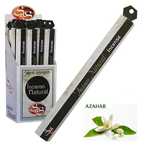 Incienso Natural SYS 20 Stick Olor Fragancia a Azahar (Pack 6 x 20 Sticks). Perfuma el hogar.
