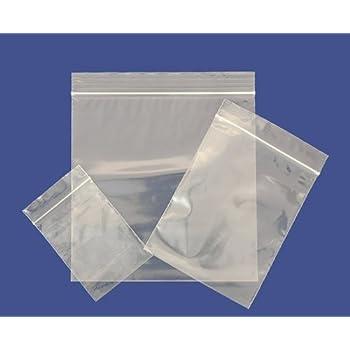 """100 Small GL4 3.5/"""" x 4.5/"""" Clear Grip Self Press Seal Zip Lock Plastic Bags"""