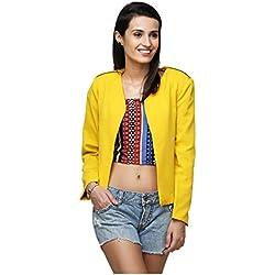 Yepme Ertina Casual Blazer - Yellow -- YPMBLZR5005_L