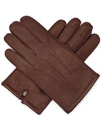 Harssidanzar Gants de luxe en cuir italien Nappa pour Hommes, doublure en  laine finition vintage d808462606d