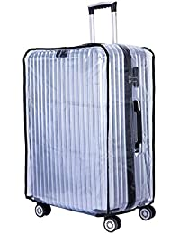 "CSTOM (Transparent PVC) Luggage Koffer Cover Einfach Kofferbezug Kofferschutzhülle Kofferschutz, 20""22""24""26""28"""