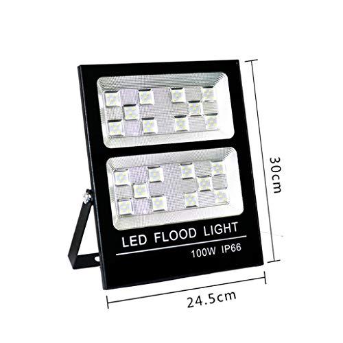 XEX LED Strahler Mit,wasserdichtes Arbeitslicht IP66 85-265V Park Fabrik Werkstattbeleuchtung (Farbe : 100W-black, größe : Warmes weißes Licht) -