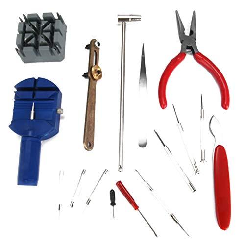 Preisvergleich Produktbild 16pcs / Set de pulsera herramienta de la reparación del reloj del kit DIY destornilladores abridor de la caja del brazal pinzas del removedor del acoplamiento del relojero dispositivo dedicado