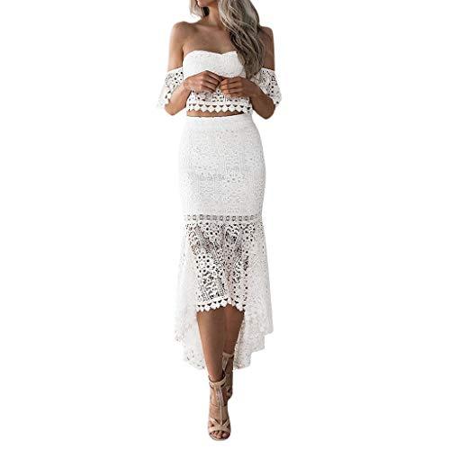 Streetwear Kleid VENMO Damen Festliche elegant Kleid Plus Size Damen Knielang Retro V-Ausschnitt Höhe Taille -