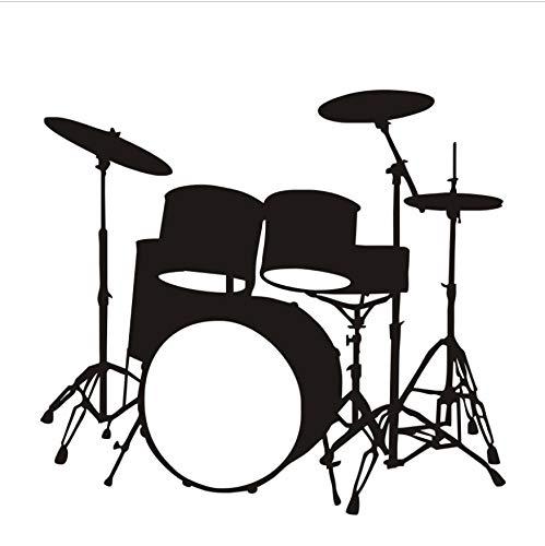 Diy Musikinstrumente Schlagzeug Wandaufkleber Ausgangsdekor Wohnzimmer Schlafzimmer Vinyl Wandtattoos Poster Dekoration Tapete 48x44 cm