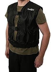 Klarfit Veste Lestée Fitness - Gilet de Musculation, fitness, cross-training (de 50g à 10 Kilos, Réglable S à XL) - Noir