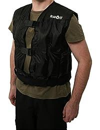 Klarfit Gilet Lesté Jogging - Veste à Poids 5 Kilos, Unisex, Résistance à l'Entrainement (Taille modulable S à XL) - Noir