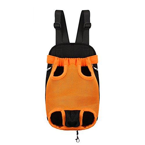 Imagen de icase4u®  práctica y bonita bolsa portátil para perro pequeño yorki gato mascota ideal para viajes al aire libre de senderismo naranja, xl