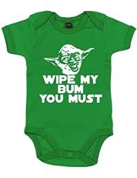 IiE, Wipe my bum you must Yoda, Baby Unisex Boy Girl, Bodysuit
