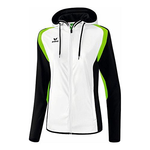 erima Damen Trainingsjacke Razor 2.0 mit Kapuze Weiß/Schwarz/Green Gecko, 42