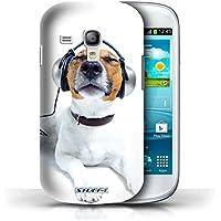 Stuff4 Hülle / Hülle für Samsung Galaxy S3 Mini / Hund mit Köpfhörer Muster / Lustige Tiere Kollektion