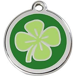 Red Dingo Médaille Pour Chiens Trèfle Porte-bonheur - 1CV / Feuille de trèfle, L