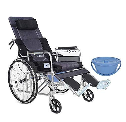 Bariatric Faltbare Rollstuhl (AIWO-LPT Faltbare Rollstuhlbeine können for Behinderung der unteren Extremitäten/Lähmung/Stürze/Fraktur angehoben Werden. Wagen kann den Rollstuhl selbst bremsen)