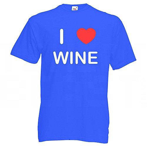I Love Wine - T-Shirt Blau