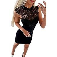 Femmes Sans Manches En Dentelle épissure Moulante Casual Party Cocktail Mini Robe/Jupe Combishort Short Taille Haute Vetement Ete Top Ete Combinaison Soiree Robe Dos Nue Robe