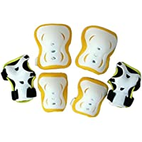 Eruner Kid's Skating Roller Wrist Elbow Knee Pads Gear for 3-9 Years(Pack of 6)
