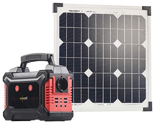 revolt Solar-Ladegerät USB: Solar-Generator & Powerbank mit mobilem 20-Watt-Solarpanel, 60 Ah (Power-Akkus) Solar Power Generator