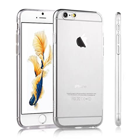 iPhone 6 Silicone Gel Case Case - Transparent Clear Soft Gel TPU Silicone Case Cover for Your iPhone 6 - Ultra Slim Soft Gel TPU Silicone Crystal Clear Gel Cover iPhone 6 - Transparent Tpu Jelly Rubber Gel Skin Case Cover iPhone 6 - TPU Cover iPhone 6
