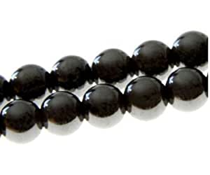 Lot 50 Perles Shamballa Hématite 10 mm