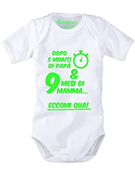 Eccomi qua! - Body neonato mezza manica - 100% cotone