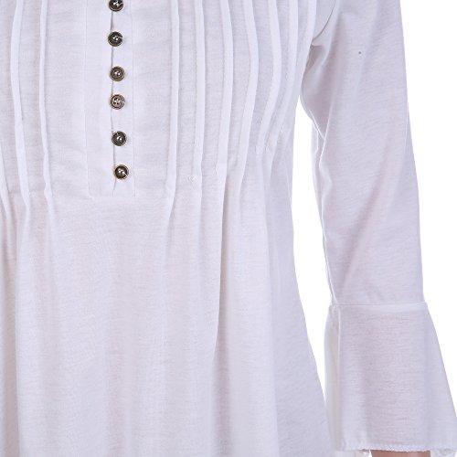 Weant - Sweat-shirt - Tendance - Manches Longues - Femme Jaune/noir L Blanc
