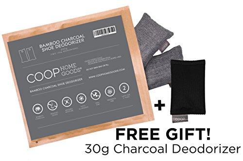 Coop Home Goods Waren natürliche Moso Bambus Kohle Deodorizer - 2 X 100G (2 Stück) für Schuhe, Stiefel, Sporttasche oder Boxhandschuhe