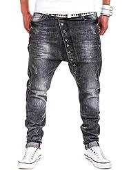 MT Styles Buttons Jeans sarouel pantalon Fit RJ-2073