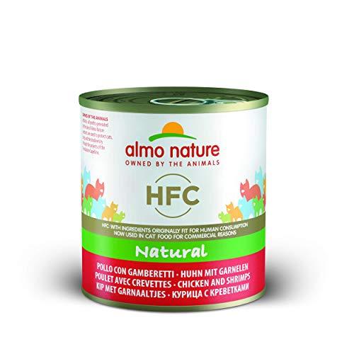 Almo Nature HFC Naturel-Poulet et crevettes (Lot de 12x 280g d'étain)