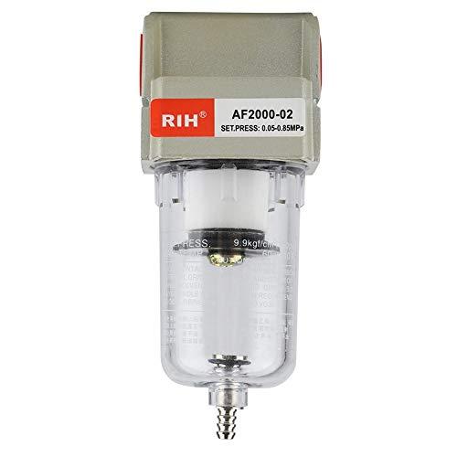 Trampas de Aceite Filtro de Agua Separador, Filtro de la trampa de la humedad del agua del compresor del filtro de partículas de 1/4 pulgada AF2000-02 1/4 pulgada