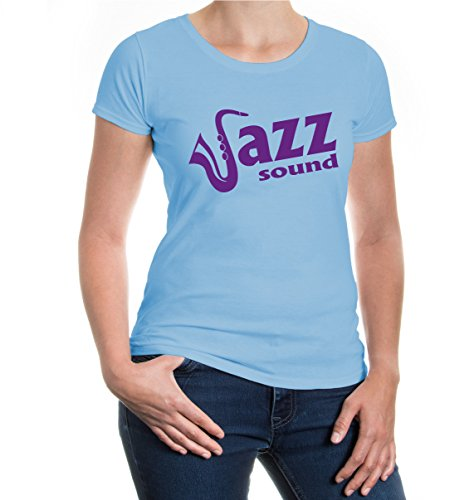 buXsbaum® Girlie T-Shirt Jazz Sound Skyblue-Purple